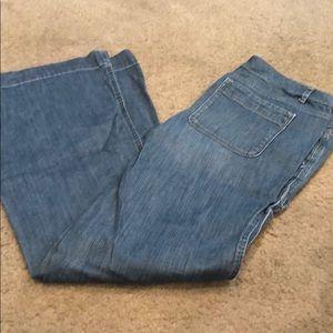 GAP flare leg painter style jeans